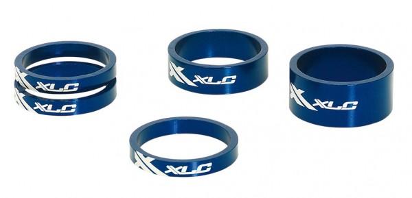 """XLC Spacer-Set blau AS-A02 11/8"""""""