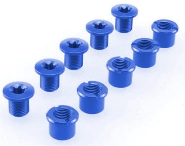 Kettenblattschrauben Procraft 2-fach blau