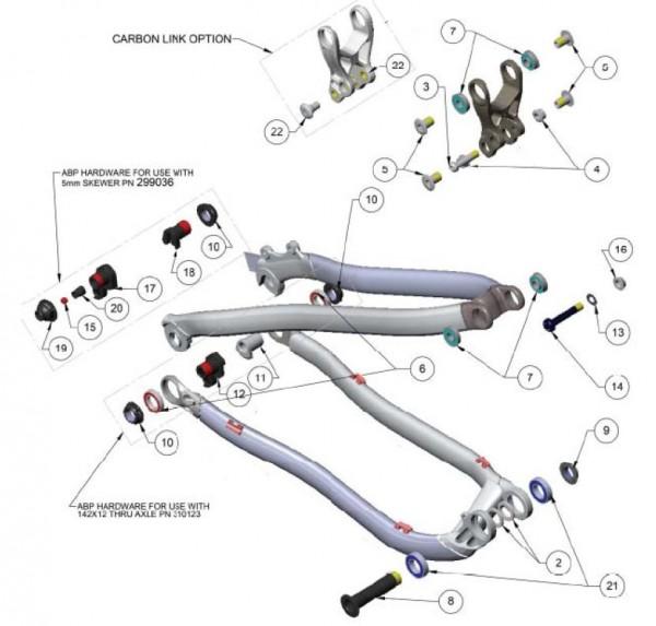 Trek Superfly 100 2012, 292095, Dichtungsring, I.D. 17.0mm, O.D.