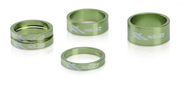"XLC Spacer-Set grün AS-A02 11/8"""