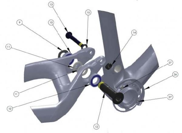 Trek Fuel EX 9.9 Carbon, 275611 (Nr.13), Schraube/Bolzen, M8x1.2