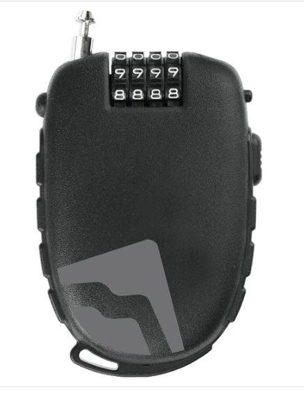 Merida Kabelschloss ausziehbar 120 cm schwarz/grau