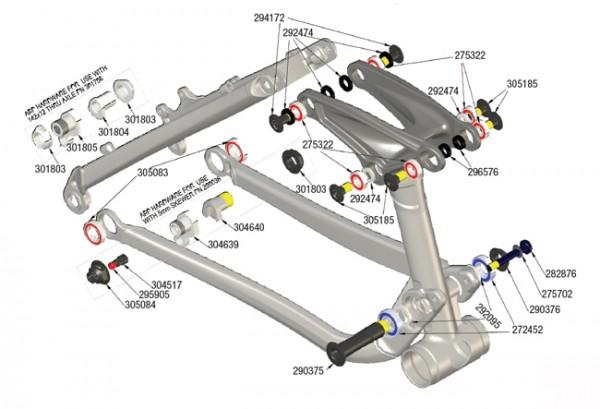 Trek Fuel EX Alu 2011/2012, 294172, Schraube/Bolzen, M10x1.0x22.