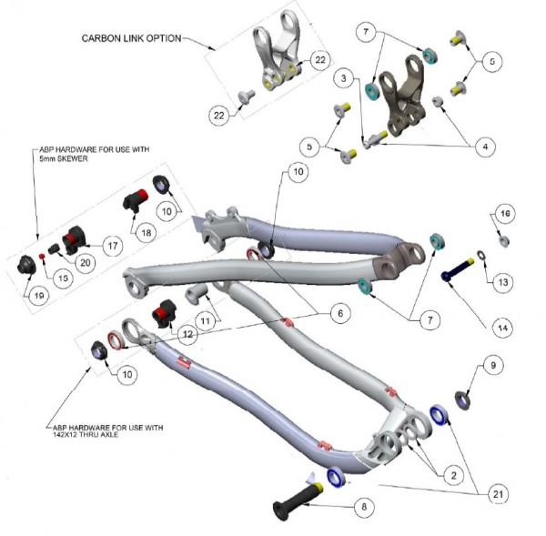 Trek Superfly 100 Aluminium 2013, 301805 (Nr.12), ABP Bolzen, Ni