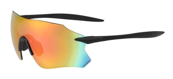 Merida Sonnenbrille Frameless mattschwarz/rot