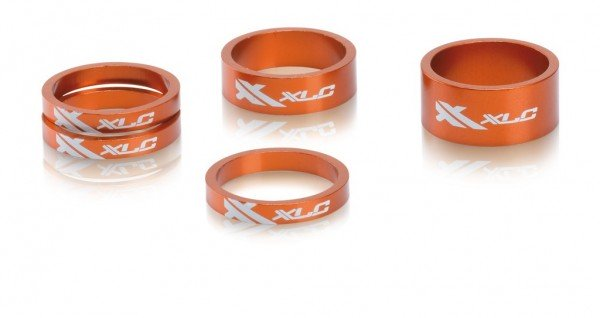 XLC Spacer-Set orange AS-A02 11/8""