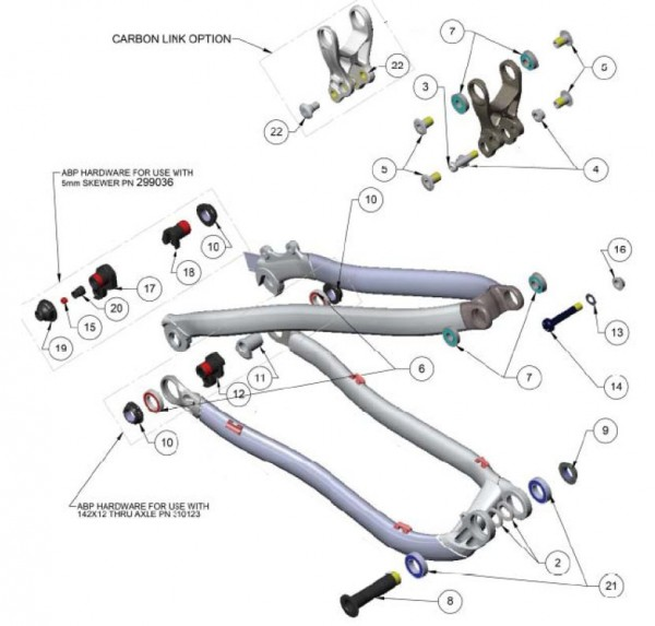 Trek Superfly 100 2012, 290376, Mutter, M16x1.5, 7mm11,9