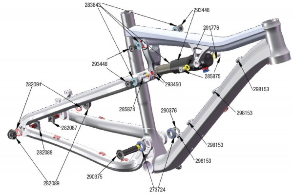 Trek Roscue 2009, 282091 (Nr.3), Industrie Lager 6901-2RS 24X12X