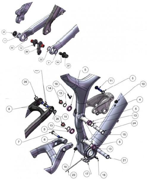 Trek Fuel Carbon 2011-2012, 286119 (Nr.11), Schraube/Bolzen, M8x