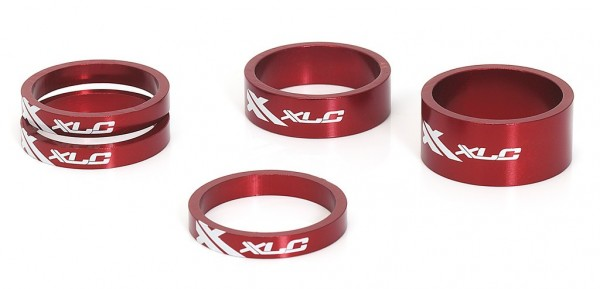 """XLC Spacer-Set rot AS-A02 11/8"""""""