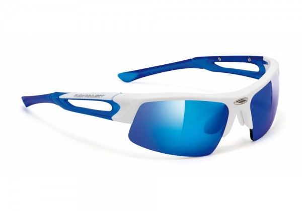 Rudy Project Exowind white matte-frozen blue / multilaser blue
