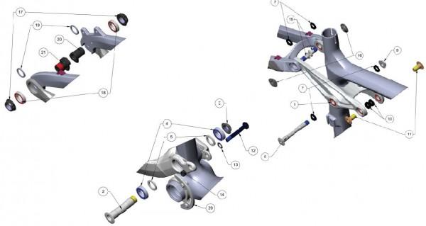 Trek Remedy Carbon 2012, 305083 (Nr.18), Industrie Lager, MR17
