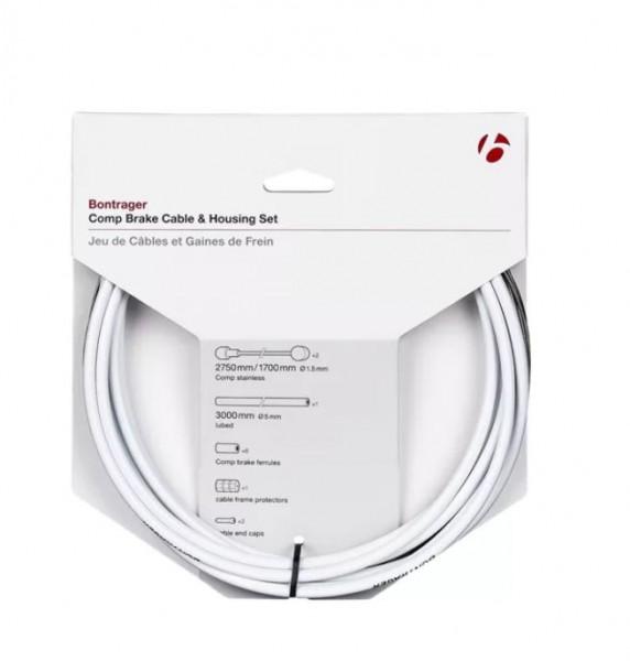 Bontrager Comp Bremszug/Zughüllen-Set weiß