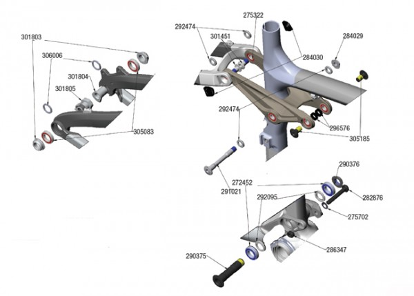 Trek Remedy Carbon 2011, 282876, Schraube/Bolzen, M8x1.25x54mm
