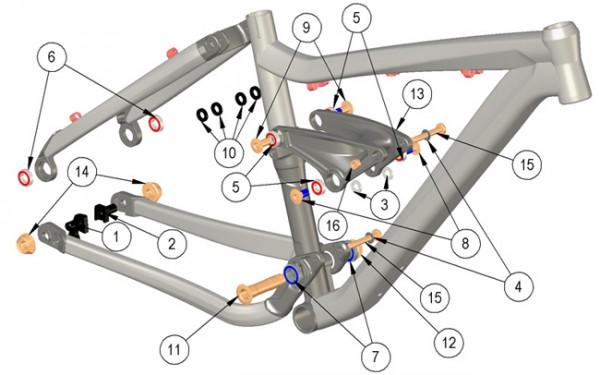 Trek Fuel EX Alu 2010, 282091 (Nr.6), Industrie Lager6901-2RS
