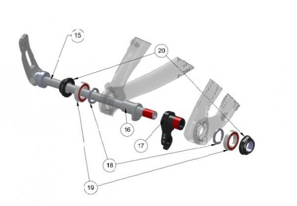 Trek Superfly 100 Carbon 2013/14, 301803 (Nr.20), Mutter, ABP M1