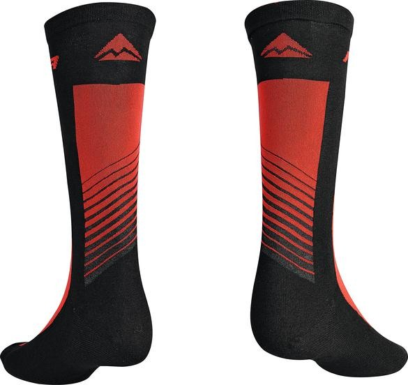 Merida Socken Road Design Lang Schwarz/rot