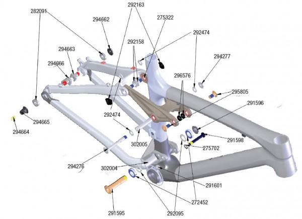 Trek Remedy Carbon 2010, 292095, Dichtungsring, I.D. 17.0mm, O.D