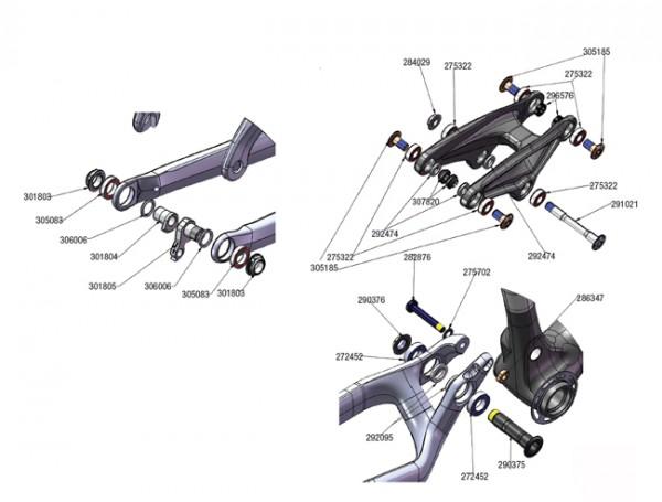 Trek Fuel EX Carbon 2011, 291021, Achse, M10x1.5x84mm